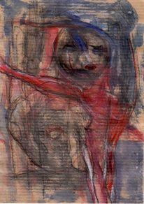 Rot, Surreal, Figural, Kalt