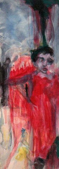 Weihnachten, Surreal, Rot, Malerei