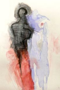 Rot, Akt, Surreal, Malerei