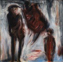Menschen, Malerei, Nacht