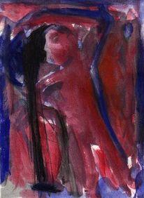 Rot, Blau, Surreal, Malerei