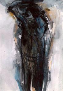 Nacht, Surreal, Abstrakt, Malerei