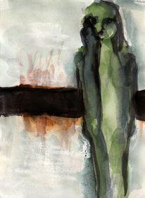 Abstrakt, Grün, Surreal, Malerei