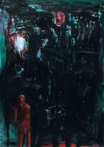 Nacht, Surreal, Rot, Abstrakt