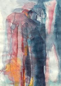 Abstrakt, Figural, Surreal, Aquarell