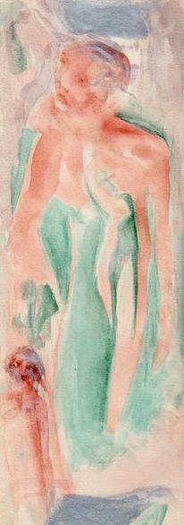 Surreal, Abstrakt, Rot, Malerei