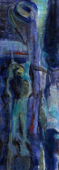 Nacht, Psyche, Kalt, Malerei