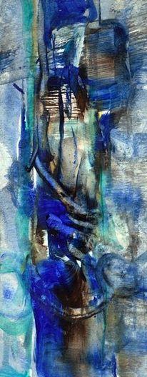 Blau, Kalt, Nacht, Malerei