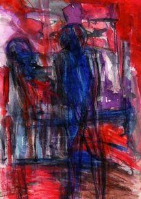 Surreal, Abstrakt, Blau, Figural