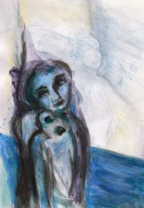 Surreal, Menschen, Keinrot, Malerei