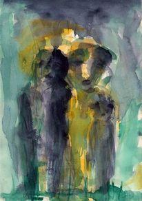 Abstrakt, Sommer, Figural, Gelb