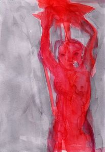 Rot, Surreal, Figural, Blut
