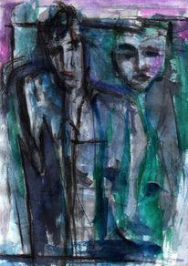 Abstrakt, Figural, Grün, Surreal