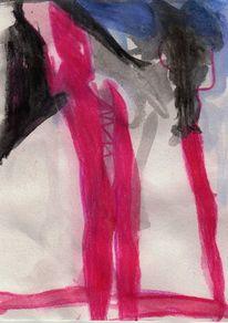 Figural, Abstrakt, Rot, Surreal