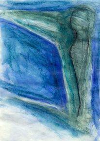 Blau, Surreal, Abstrakt, Grün