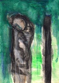 Figural, Grün, Surreal, Abstrakt