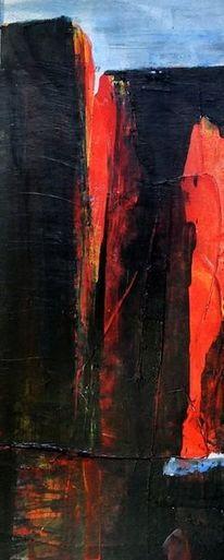 Traum, Rot, Architektur, Malerei