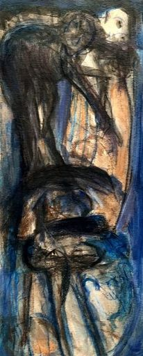 Blau, Surreal, Abstrakt, Malerei