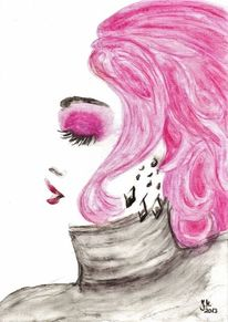Illustration, Mode, Aquarellmalerei, Portrait