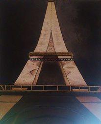 Paries, Leuchten, Eiffelturm, Nacht