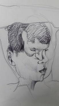 Eingegrenzt, Maske, Zeichnungen, Beobachtung