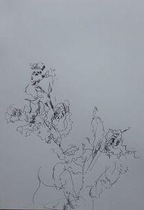 Frau, März, Zeichnungen,