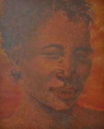 Menschen, Frau, Malerei, Afrika