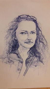 Frau, Rot, Selbstbewust, Zeichnungen