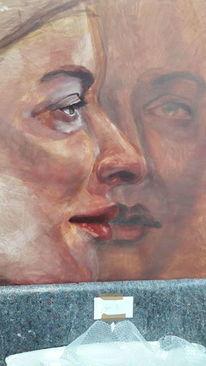 Frau, Blick, Gesicht, Malerei