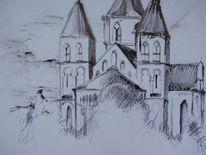Aquarell, Kirche