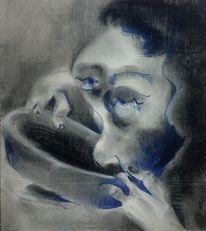 Hand, Zeichnung, Blick, Portrait