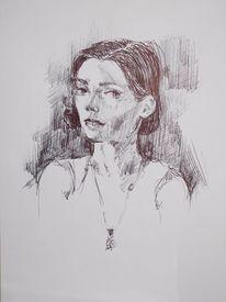 Zeichnung, Frau, Skizzen, Zeichnungen