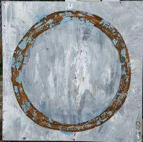 L einwand, Kreis, Blau, Malerei