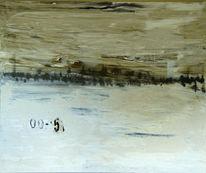 Abstrakt, Schwarz weiß, Malerei, Grau