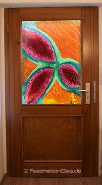 Haustürfüllung, Glas, Bunt, Kunsthandwerk