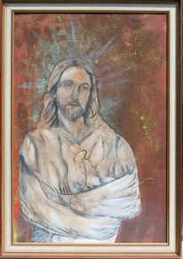 Ölmalerei, Acrylmalerei, Jesus, Milan art