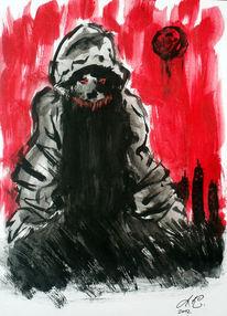 Schwarz, Dämon, Rot schwarz, Stadt