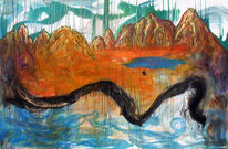Allegorie, Landschaft, Zeit, Malerei
