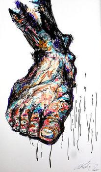 Anatomie, Fuß, Haut, Zeichnungen