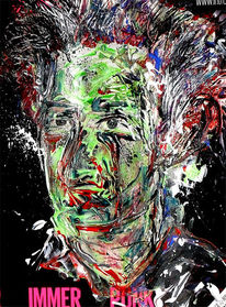 Punk, Expressionismus, Gesicht, Bunt