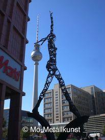 Kunstwerk und architektur, Berlin alexanderplatz, Markt, Fernsehturm