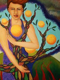 Surreal, Malerei, Natur, Frau