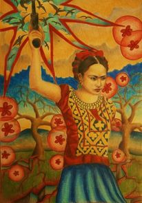 Frau, Surreal, Frida kahlo, Natur