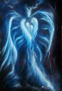 Blitz, Blau, Fantasie, Hügel