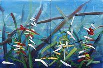 Dickicht, Pflanzen, Urwald, Malerei