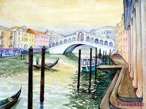 Venedig, Kanal, Rialto brücke, Wasserlandschaft