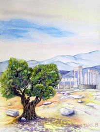 Olivenbaum, Aquarell, Türkei