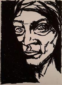 Pastellmalerei, Schwarz, Gesicht, Zeichnungen