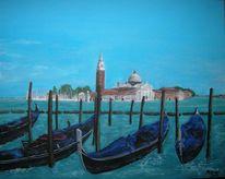Kirche, Sommer, Venedig, Gondel