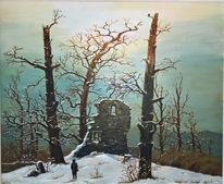 Winter, Romantik, Kapelle, Ruine